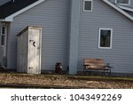 Amish outhouse with crescent...