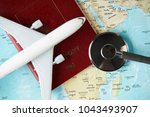 medical travel concept with... | Shutterstock . vector #1043493907