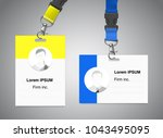 set of lanyard with id card.... | Shutterstock .eps vector #1043495095