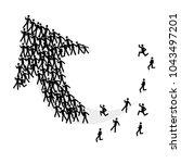 people heading arrow success   | Shutterstock .eps vector #1043497201