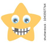 a smiley showing nerdy face  | Shutterstock .eps vector #1043507764