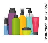 colorful vector cosmetic...   Shutterstock .eps vector #1043510959