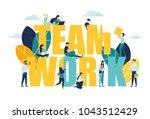 vector business illustration ...   Shutterstock .eps vector #1043512429