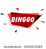 binggo sign with red label | Shutterstock .eps vector #1043515285