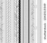vector seamless black and white ...   Shutterstock .eps vector #1043515549