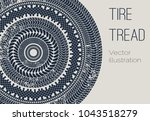 vector motor tire treads... | Shutterstock .eps vector #1043518279