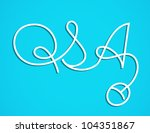 line art question and answer   Shutterstock .eps vector #104351867