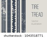 vector motor tire treads... | Shutterstock .eps vector #1043518771