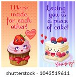 cute food characters with funny ... | Shutterstock .eps vector #1043519611