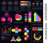 modern infographic template... | Shutterstock .eps vector #1043520004
