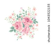 floral background. flower rose... | Shutterstock .eps vector #1043522155
