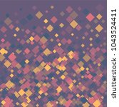 rhombus violet minimal... | Shutterstock .eps vector #1043524411