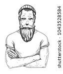 vector illustration of a man... | Shutterstock .eps vector #1043528584