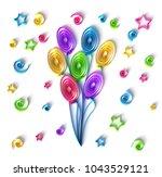 paper art quilling  filigree...   Shutterstock . vector #1043529121