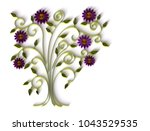 paper art quilling  filigree...   Shutterstock . vector #1043529535