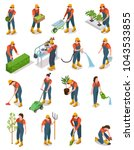 isometric set of characters of... | Shutterstock .eps vector #1043533855