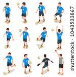 set of isometric soccer players ... | Shutterstock .eps vector #1043533867
