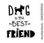animal pet t shirt design.... | Shutterstock .eps vector #1043539024