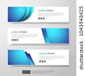 abstract business header or... | Shutterstock .eps vector #1043543425