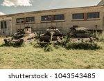 old soviet retro tank since... | Shutterstock . vector #1043543485