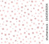 cute seamless pattern with... | Shutterstock .eps vector #1043545054