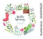 background hello spring summer... | Shutterstock .eps vector #1043549629