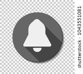 black bell icon. white flat...