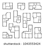 apartment vector plans ... | Shutterstock .eps vector #1043553424