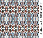ikat geometric folklore... | Shutterstock .eps vector #1043559331