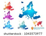 europe map   set of geometric... | Shutterstock .eps vector #1043573977