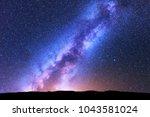 milky way. space. scenic night...   Shutterstock . vector #1043581024