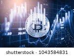 modern way of exchange. bitcoin ... | Shutterstock . vector #1043584831