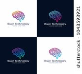brain tech logo design template.... | Shutterstock .eps vector #1043593921