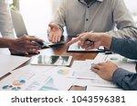 business team colleagues... | Shutterstock . vector #1043596381