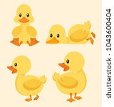 Cute Yellow Duck Set