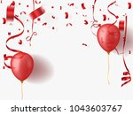celebration background with red ... | Shutterstock .eps vector #1043603767