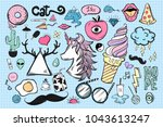 set of cute and cool icons | Shutterstock . vector #1043613247