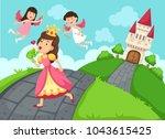 illustration of a queen fairy... | Shutterstock .eps vector #1043615425
