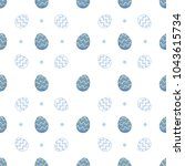 easter egg seamless pattern... | Shutterstock .eps vector #1043615734
