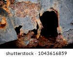 corroded metal background.... | Shutterstock . vector #1043616859