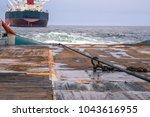 anchor handling tug supply ahts ... | Shutterstock . vector #1043616955
