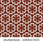 traditional geometric seamless... | Shutterstock .eps vector #1043617021