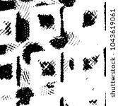 grunge halftone black and white ... | Shutterstock .eps vector #1043619061
