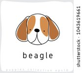 beagle   dog breed collection   ... | Shutterstock .eps vector #1043619661