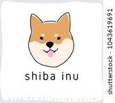 shiba inu   dog breed... | Shutterstock .eps vector #1043619691