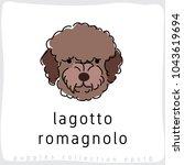 lagotto romagnolo   dog breed... | Shutterstock .eps vector #1043619694