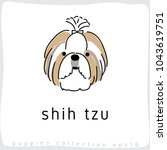 shih tzu   dog breed collection ...   Shutterstock .eps vector #1043619751