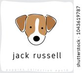 jack russell   dog breed... | Shutterstock .eps vector #1043619787