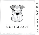 schnauzer   dog breed... | Shutterstock .eps vector #1043619811