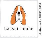 basset hound   dog breed... | Shutterstock .eps vector #1043619814